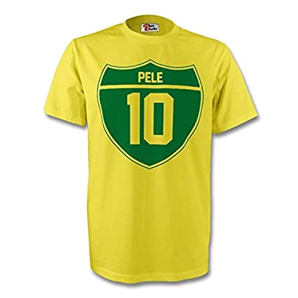 e11ee2d3367 Image Unavailable. Image not available for. Color  Gildan Pele Brazil Crest  Tee (Yellow) ...