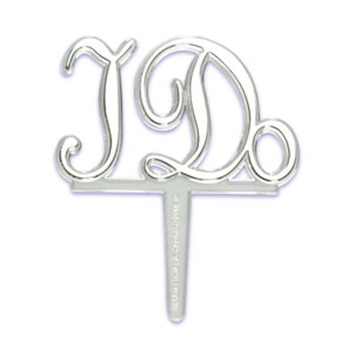 Dress My Cupcake DMC41WP-IDO 12-Pack I Do Pick Decorative Cake Topper, Wedding, Silver
