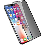 ToSour Compatible IPhone X Screen Protector Privacy Tempered Glass Film, 6D Cold Carving Edge to Edge Full Cover, ToSour Compatible IPhone X Anti-spy Full Screen Protector Left And Right Anti-peeping