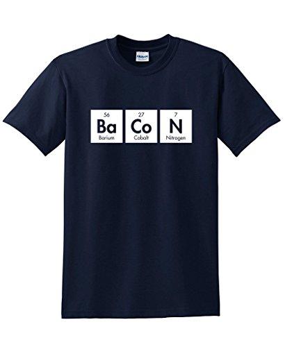 Nerd Day Ideas (The Elements Of Bacon Men's Very Funny Geek Nerd Math T Shirts XL Navy)
