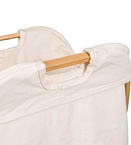 BirdRock Home Folding Butterfly Bamboo Hamper | Made of Natural Bamboo | Includes Machine Washable Cotton Canvas Liner by BirdRock Home (Image #3)