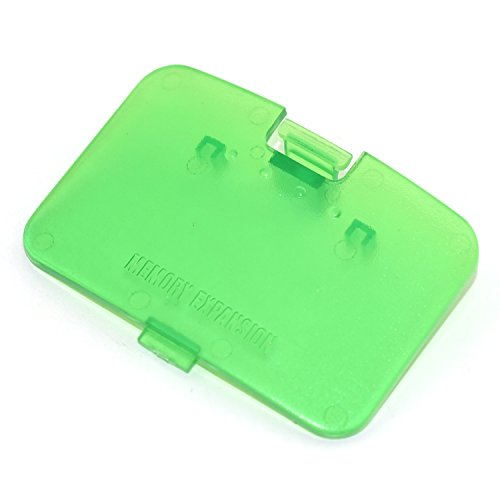 Cinpel Replacement Memory Expansion Cover for Nintendo 64 N64 Console Transparent Green