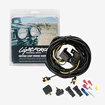 Amazon Com Lightforce Lfdlh Complete Wiring Harness With Switch 12v Relay And Terminal Driving Light Automotive