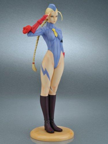 41ihOIpu UL Capcom Girls Collection Street Fighter III Original Cammy Blue Uniform PVC Figure By Yamato