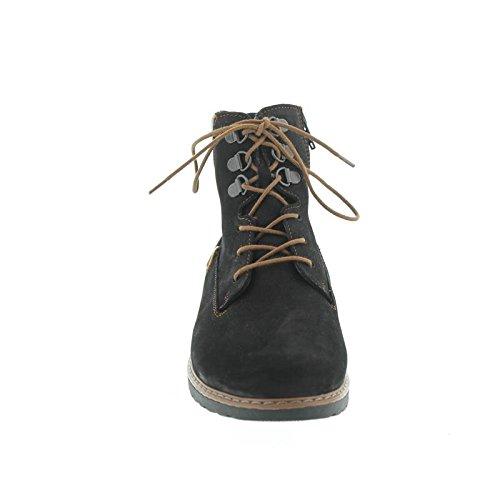 Waldläufer - Botas de Piel para mujer Negro - negro