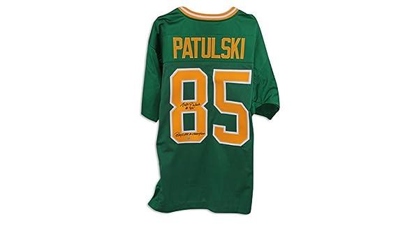 Walt Patulski Notre Dame Fighting Irish Autographed Green Jersey Inscribed