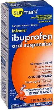 (Sunmark Sunmark Infants Ibuprofen Oral Suspension Berry, Berry 1 oz)