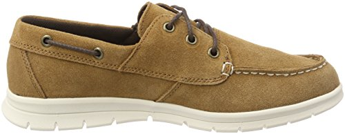 Timberland Graydon Leather, Mocassini Uomo Marrone (Rust Suede 643)