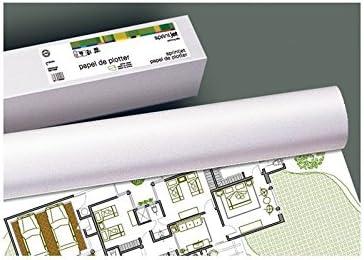 Fabrisa 7610509 - Rollo de papel para plóter, 90 g, 610 mm x 50 m, Unidades contenidas: 1: Amazon.es: Oficina y papelería