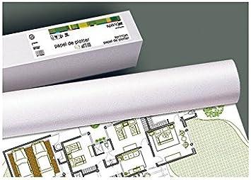 Fabrisa 7610509 - Rollo de papel para plóter, 90 g, 610 mm x 50 m ...