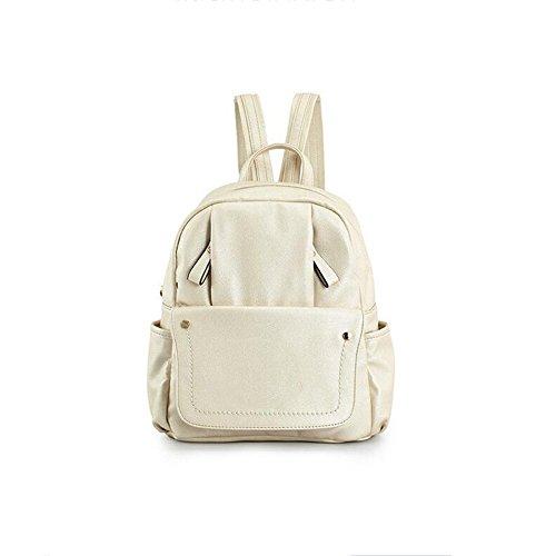 GUO - nueva versión coreana 2017 de los bolsos femeninos de la manera de la universidad del bolso de hombro de la manera de la PU (27 * 13 * 32CM) (amarillento)