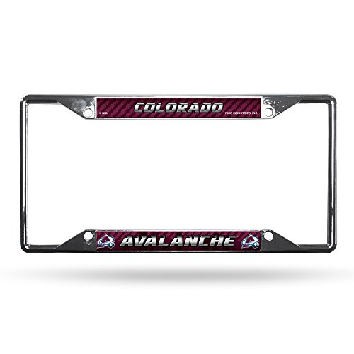 Rico Colorado Avalanche NHL Chrome EZ View License Plate Frame