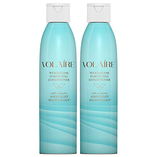 Volaire Weightless Fortifying Conditioner - Helps Strengthen Hair, Seal in Moisture and Prevent Breakage   Sulfate Free   Paraben Free   Safe for Color Treated Hair, 8 Oz (2 Pack)