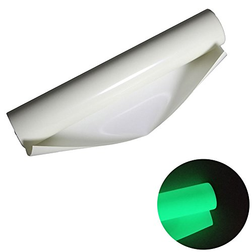 Heat Transfer Vinyl Roll Glow in Dark 10 Inches x 3 Feet Gloss HTV Vinyl for T-Shirts (Green)