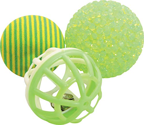 Zolux Pack of 3 Assorted Toy Balls for Cats 4 cm