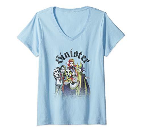 Womens Disney Villains Sinister Group V-Neck T-Shirt ()