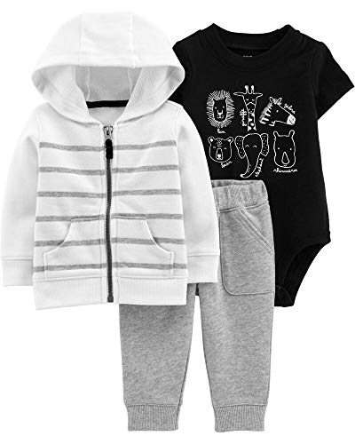 Carter's Baby Boys` 3-Piece Little Jacket Set, Animals, 24 Months