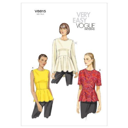 Vogue Patterns V8815 Misses Top, Size F5 (Vogue Patterns Tops)