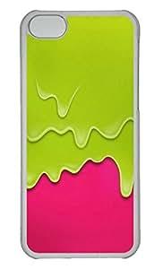 Personalized Custom Ice Cream for iPhone 5C PC Transparent Case