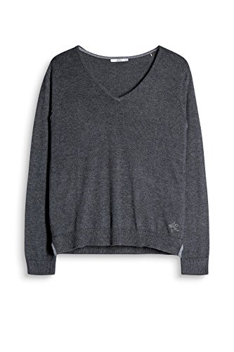 edc by Esprit, Suéter para Mujer Gris (Dark Grey 020)