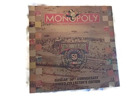 (NASCAR 50th Anniversary Limited Collector's Edition Monopoly Game 1948 - 1998)