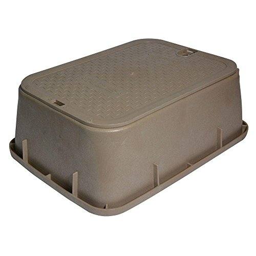 14 in. x 19 in. x 6 in. Standard Tapered Valve Box and Cover in Sand (Water Covers Valve)