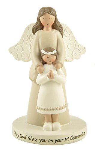 First Communion Statues - Blossom Bucket First Communion Girl/Angel On Base Home Decor