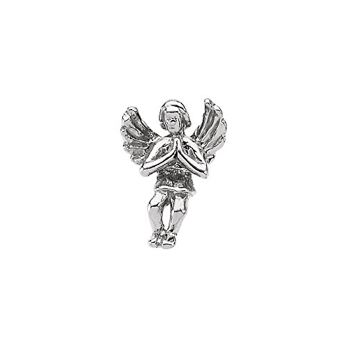 Beautiful White gold 14K Praying Angel Lapel Pin