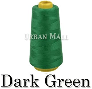 product image for 6000 Yards Dark Green Sewing Thread All Purpose 100% Spun Polyester Spools Overlock Cone (Upholstery, Canvas, Drapery, Beading, Quilting)
