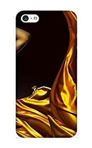 Hot Tpu Cover Case For Iphone/ 5c Case Cover Skin Design - Lady In Yellow