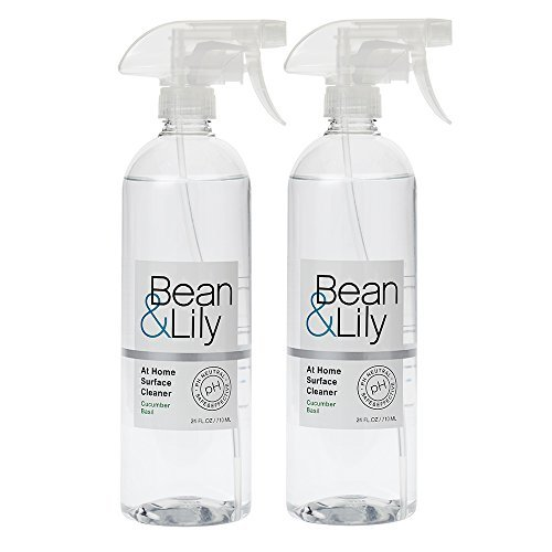 Bean & Lily at Home Surface Cleaner - Cucumber Basil - 24 oz – Degreaser - Natural Plant Based - pH Neutral – Non Toxic - Sprays (Pack of 2) by Bean & Lily