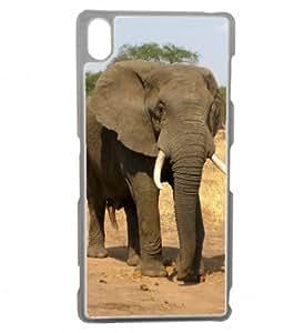 Elefante 3-Carcasa de silicona para sony z3, transparente