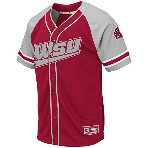 (Mens Washington State Cougars Wallis Baseball Jersey -)