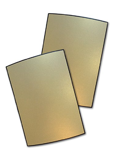Metallic Gold Leaf with Black Border A-2 Flat Cards - 50 Pack