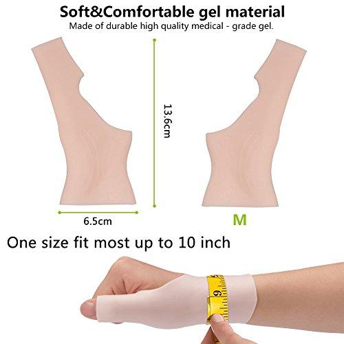Phileex Carpal Tunnel Wrist Brace - Thumb Brace Right Hand (1pair) New Material Thumb Splint, Great for Tenosynovitis Gel Wrist Brace Carpal Tunnel, Typing, Wrist & Thumb Pain, Rheumatism,Arthritis by Phileex (Image #6)