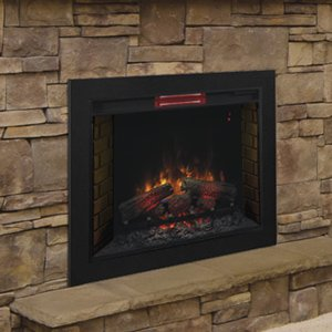 Amazon.com: ClassicFlame 33-Inch Infrared Fireplace Insert & Flush Mount Conversion Kit - 33II310GRA-BBKIT33: Home & Kitchen