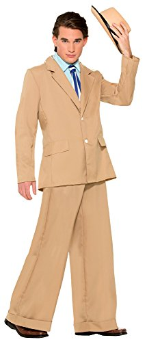 Gentleman Halloween Costumes (Forum Novelties Men's Roaring 20's Gold Coast Gentleman Costume Suit, Tan, X-Large)