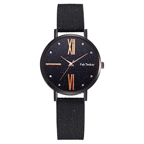 Dial Canvas - Simple Stylish Ladies Analog Quartz Watch,Waterproof Delicate Small Round Digital Roman Scale Dial - Canvas Strap Band Wrist Watch