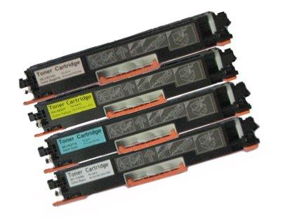 Virtual Outlet ® 4 Pack Compatible Toner Cartridge for HP CF350A CF351A CF352A CF353A (130A) Works with HP Color LaserJet Pro MFP M176n, HP Color LaserJet Pro MFP M177fw (Black, Cyan, Magenta, Yellow)