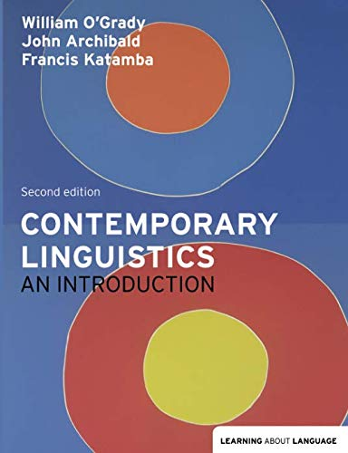 Contemporary Linguistics: An Introduction (Learning About Language)