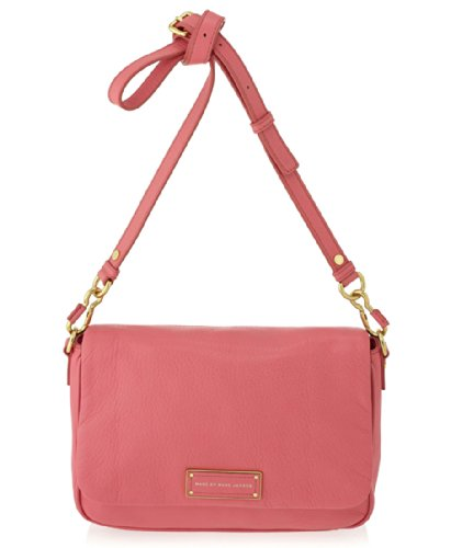 Marc by Marc Jacobs Too Hot To Handle Lea Flap Crossbody, Bright Coral (Marc Jacobs Too Hot To Handle Bucket Bag)