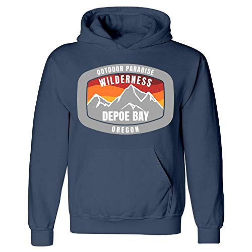 Depoe Bay Oregon Outdoor Paradise - Hoodie Navy