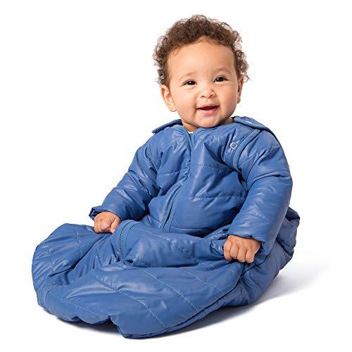 baby deedee Sleep Nest Travel Quilted Baby Sleeping Bag Sack with Sleeves, Monaco Blue, Small (0-6 Months) from baby deedee
