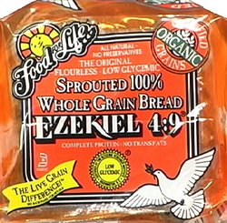 Food for Life - Ezekiel 4:9 Bread, Sprouted Whole Grain Bread, (Vegan, High Fiber & Sprouted Grains), Buy SIX Loaves and SAVE, Each Loaf is 24 Oz (Pack of 6) by Trader Joe's