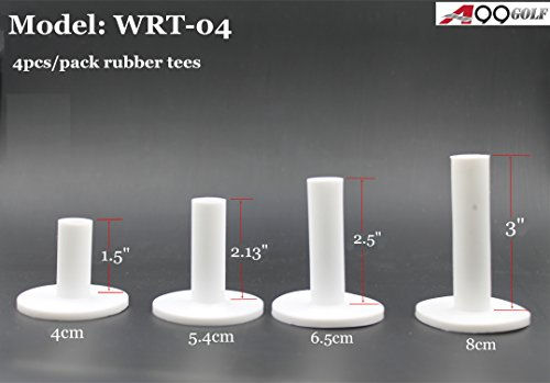 Rubber Golf Tee - A99 Golf Rubber Golf Tee White 4pcs with Different Size