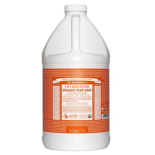 Dr. Bronner's Organic Sugar Soap - 64 oz. Refill (Tea Tree)