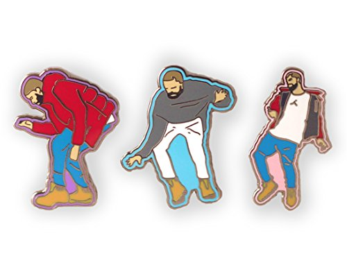 Dancing Drake, Enamel Pins, 1-800-Hotlinebling, hard enamel, Pin badge, Lapel Pin, hat pin, metal pin, cute pin, gift for her