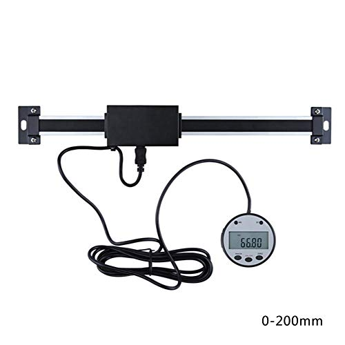 (TODAYTOP Horizontal Vertical Dual-Use Digital Display Scale Machine Tool Equipment Displacement Sensor Optical Grating Positioning Ruler External Circular Label Black Color)