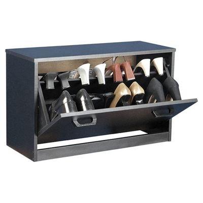 Shoe Cabinet - Single Black (Black) (18