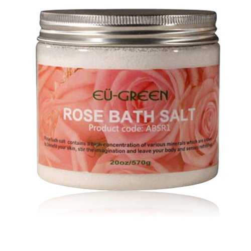 ssage Natural Sea Mineral Bath Salts, 2 Ounce, Rose ()